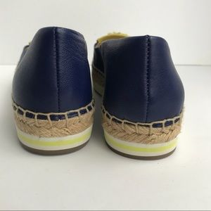 Coach Shoes - Coach Romy Espadrilles Navy & Yellow Leather 8.5